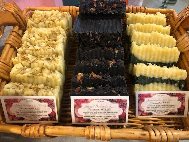 Ernestine Brown_ Fall soaps in long basket.jpg